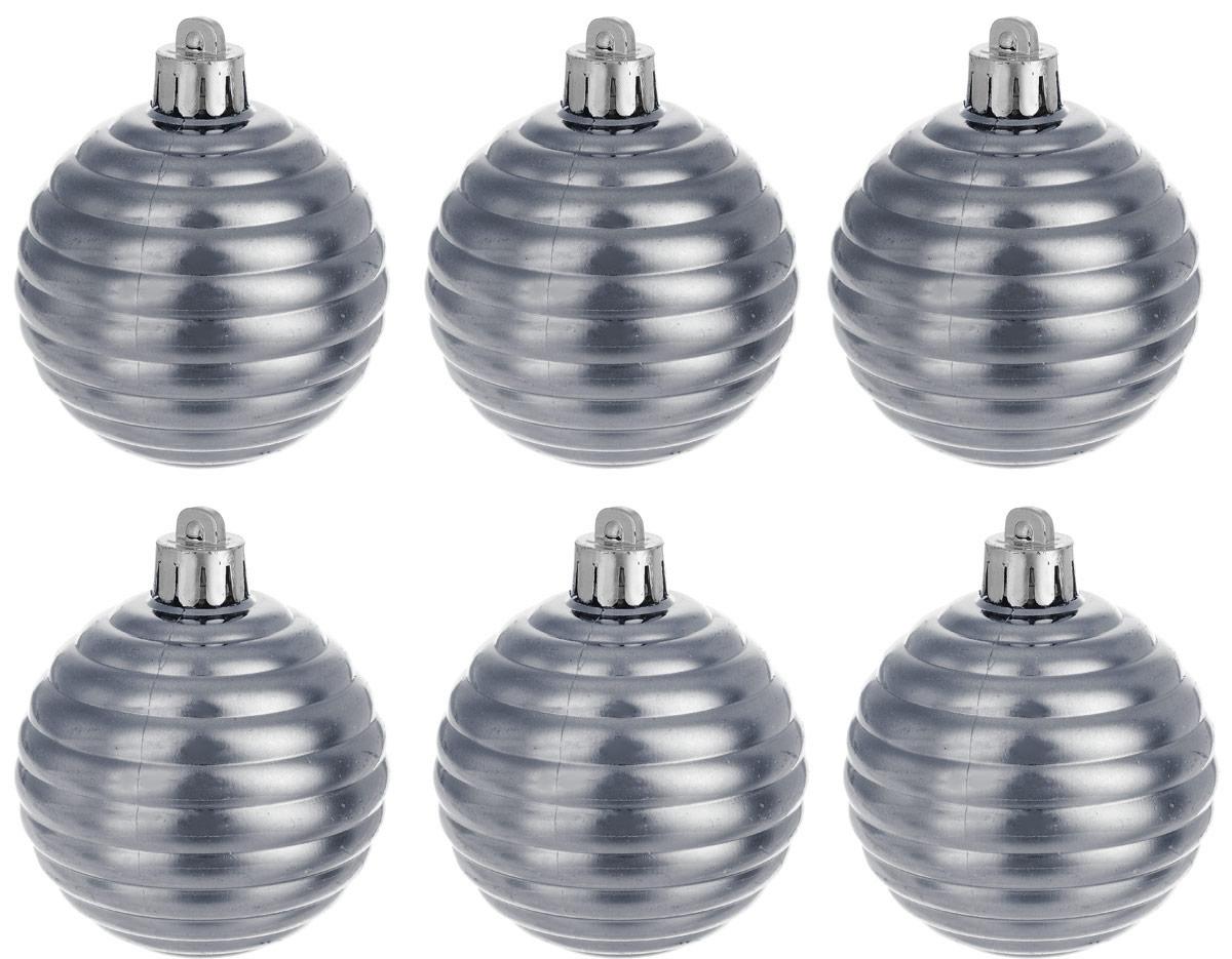 Украшение новогоднее подвесное Magic Time Шар. Улей серый, 6 шт. 76044 улей из пенопласта в украине