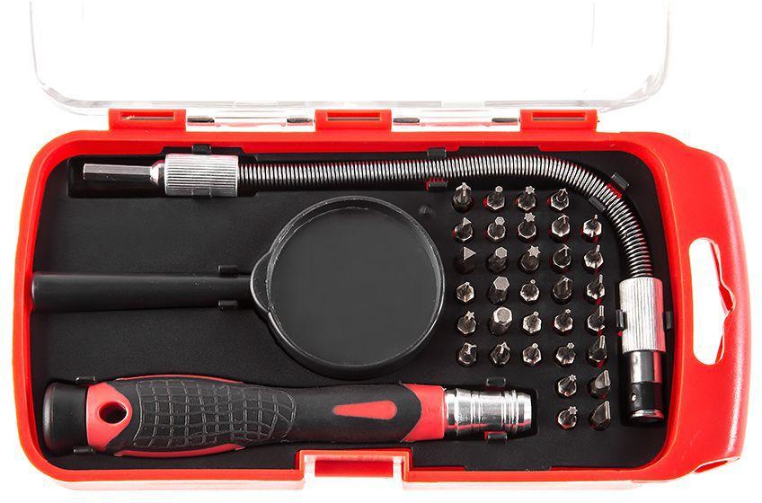 Отвертка Hammer Flex 601-033, с набором бит для точных работ точило hammer flex tsl200b