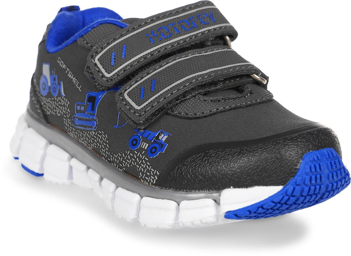 Кроссовки для мальчика Котофей, цвет: серый. 144073-72. Размер 23144073-72Яркие кроссовки от Котофей – лучшее решение для подвижных детей. Модель изготовлена из материала SoftShell. Основная концепция обуви с верхним слоем из материала SoftShell защитить от непредсказуемых погодных условий, при этом сохраняя комфортный микроклимат внутри. Внешний слой отталкивает влагу, обладает эластичностью и повышенной прочностью. Внутренний слой — сохраняет тепло и позволяет ноге дышать. Наиболее прогрессивная разработка в мировом производстве обуви. Кроссовки из материала SoftShell универсальны. Они подходят для комфортного использования, как в спортзале, так и на улице.