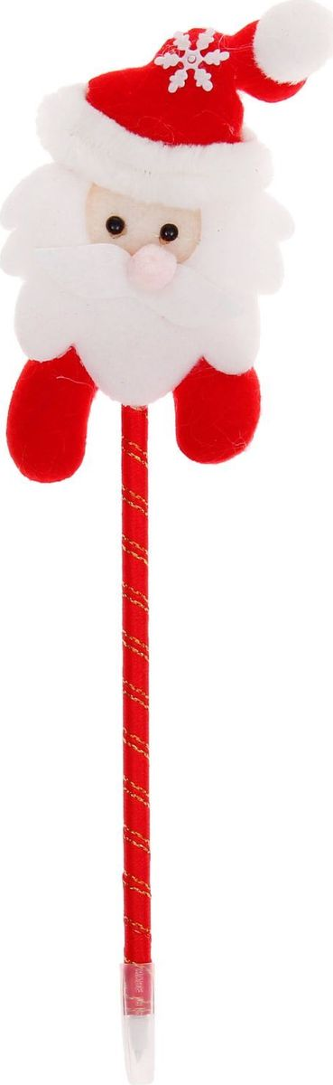 Страна Карнавалия Ручка шариковая Новый Год Дед мороз цвет чернил синий 1072646 игровые фигурки maxitoys фигура дед мороз в плетеном кресле музыкальный
