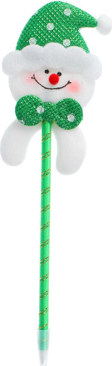 Sima-land Ручка Счастливый снеговик2326747Шариковая ручка с тематическим принтом станет отличным презентом в новогодние праздники! Для взрослых это будет оригинальное украшение рабочего стола и приятное напоминание о человеке, который преподнёс такой сувенир. А маленьких деток привлечёт красочный дизайн - за уроки они будут браться с энтузиазмом. Наконечник в форме различных фигурок подарит улыбки и море позитива - такой зимний атрибут просто не захочется выпускать из рук!