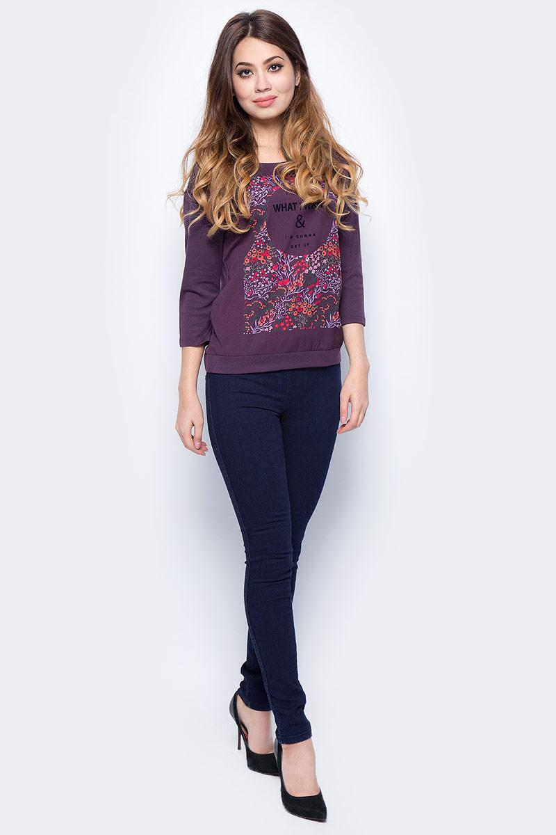 Джинсы женские Sela, цвет: темно-синий джинс. PJ-135/200-7361. Размер 31-32 (48-32) джинсы женские oodji ultra цвет темно синий джинс 12104043 6b 46260 7900w размер 27 32 44 32