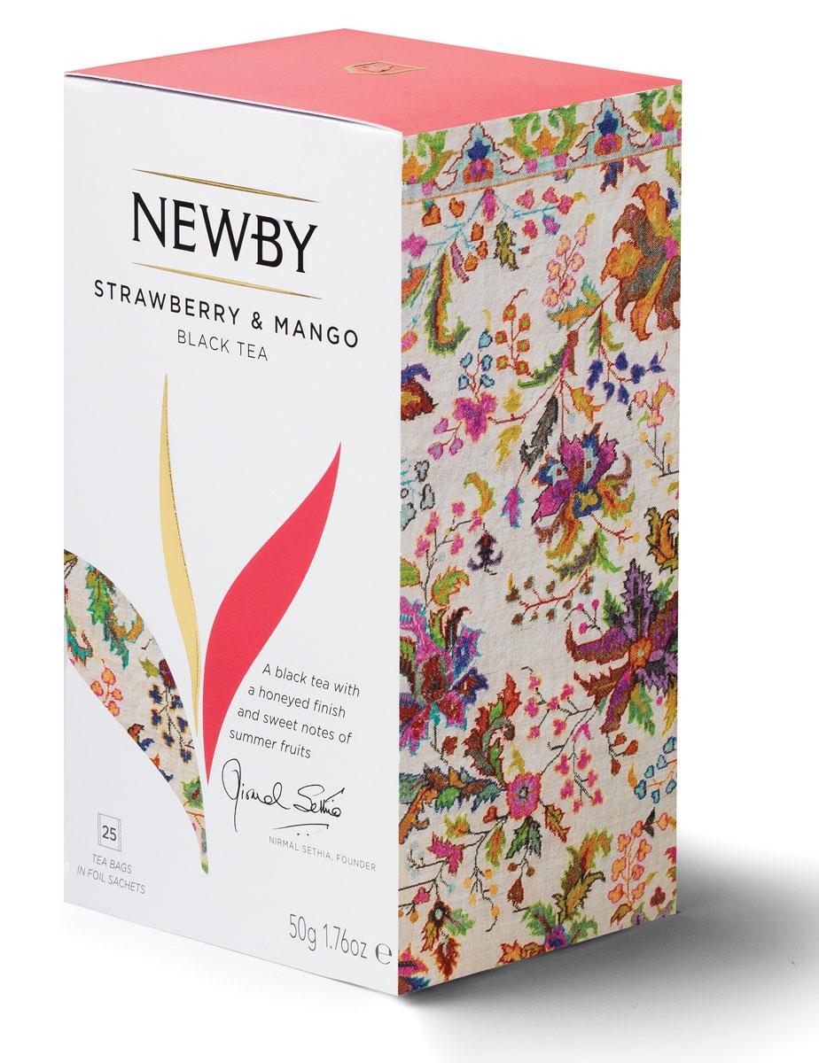 Newby Mango & Strawberry черный чай в пакетиках, 25 шт newby chocolate