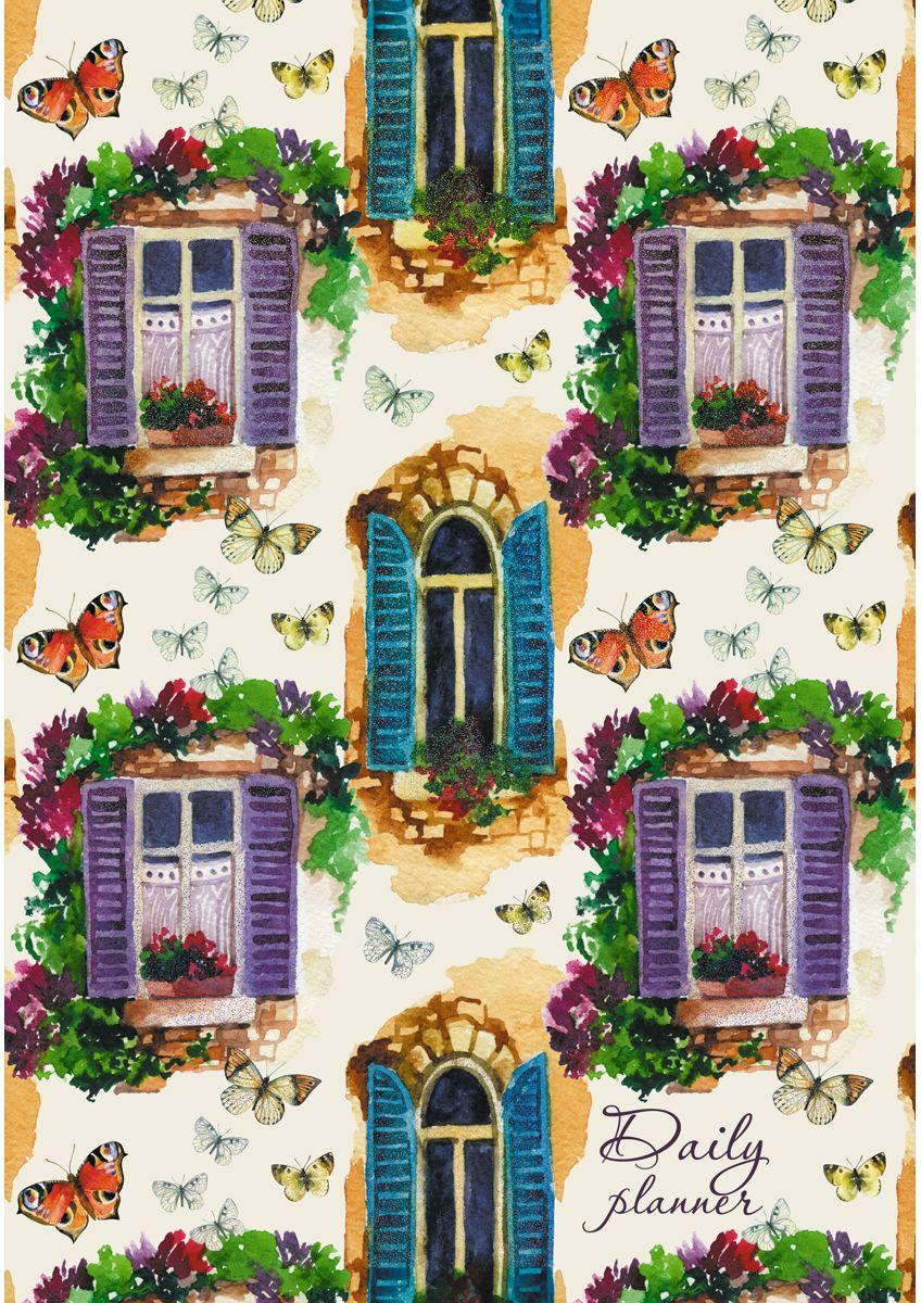 Канц-Эксмо Ежедневник Графика Окна в цветах недатированный 112 листов формат А5- ежедневник эксмо а5 152л н датир офисный стиль городская геометрия твердая обложка
