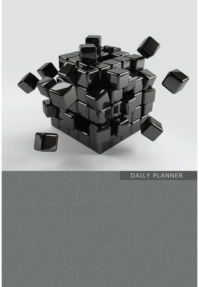 Канц-Эксмо Ежедневник Офисный стиль Концепция полудатированный 192 листа формат А5 тетради канц эксмо темно красная а5 200листов тетради с пластиковой обложкой