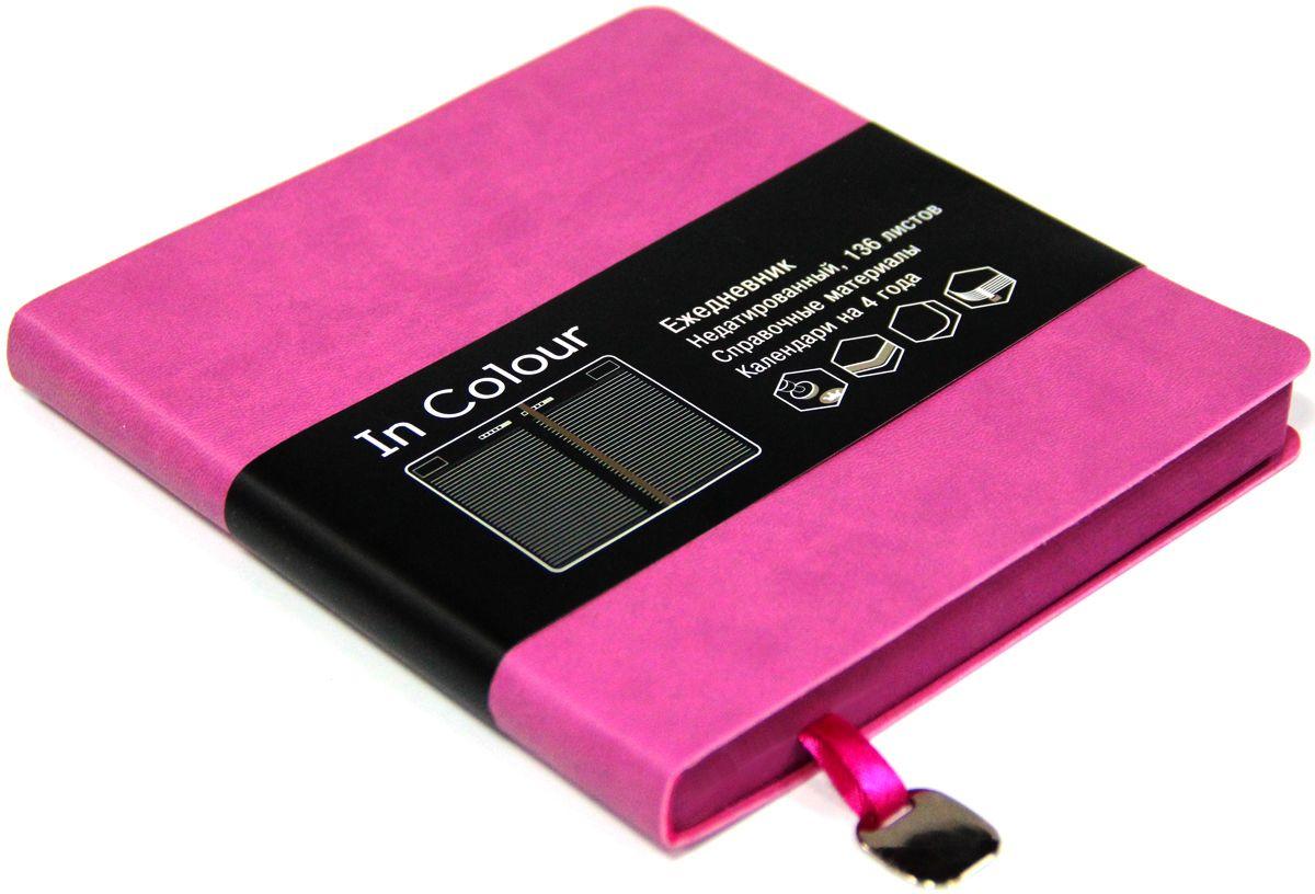 Канц-Эксмо Ежедневник In Colour недатированный 136 листов цвет лавандовый, розовый формат А5-ЕИИК17513603Ежедневник 147х162 Недатированный 136л. (IN COLOUR). Искусственная кожа, ляссе.