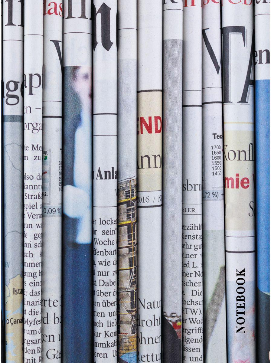 Канц-Эксмо Записная книжка Офисный стиль Газетные заголовки в клетку 64 листаЕТИ664112Книга для записей (евротетради) А6 (110х145), 64л.