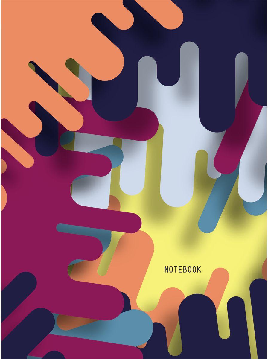 Канц-Эксмо Записная книжка Графика Цветовые сочетания в клетку 64 листа канц эксмо блокнот цветы нежность 64 листа