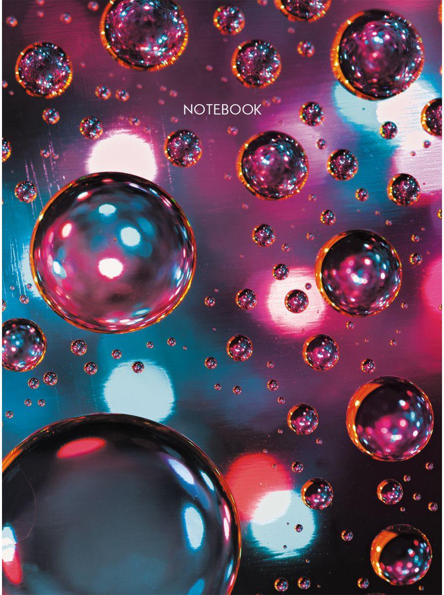 Канц-Эксмо Записная книжка Офисный стиль Металлический блеск в клетку 64 листаЕТИ664114Книга для записей (евротетради) А6 (110х145), 64л.