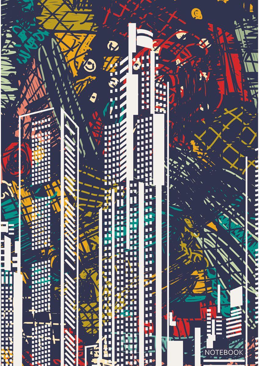 Канц-Эксмо Записная книжка Графика Большой город в клетку 160 листов формат А4КЗ41602267Книга для записей А4 (210х290), 160л.