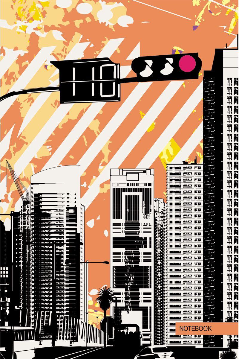 Канц-Эксмо Записная книжка Графика Ритм города в клетку 80 листов формат А5КЗ5802368Книга для записей А5 (145х210), 80л.