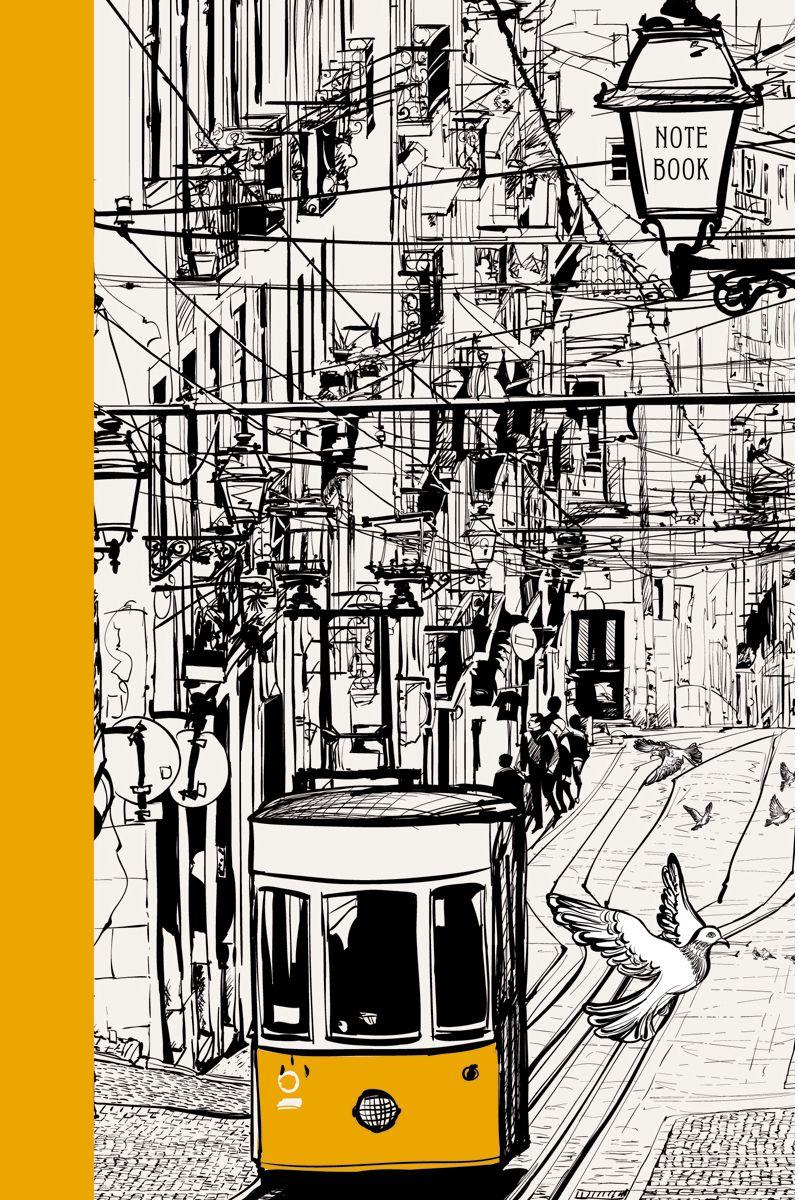 Канц-Эксмо Записная книжка Графика Городской трамвай в клетку 80 листов формат А5КЗ5802375Книга для записей А5 (145х210), 80л.