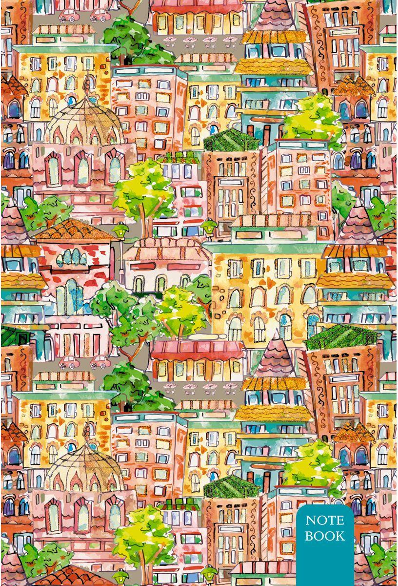 Канц-Эксмо Записная книжка Графика Красочный город в клетку 80 листов формат А5-КЗБ5802383Книга для записей А5- (132х186), 80л.