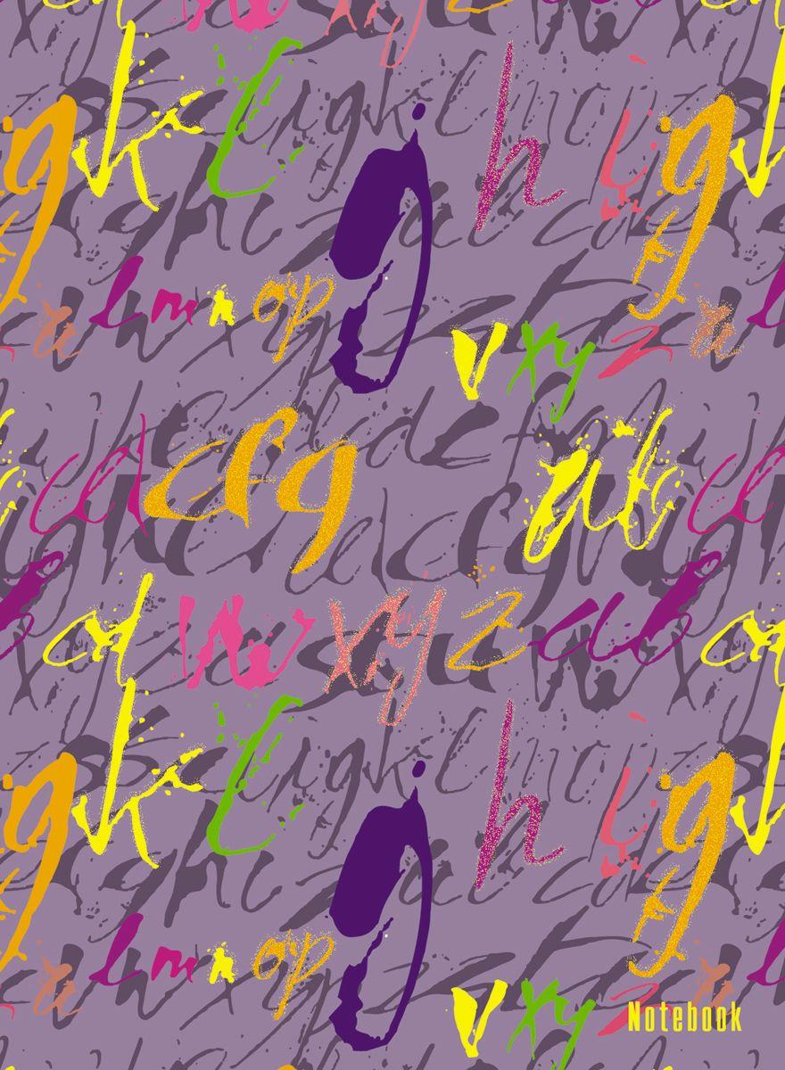 Канц-Эксмо Записная книжка Орнамент Шрифты в клетку 64 листаКЗБ6642464Книга для записей А6 (110х145), 64л.