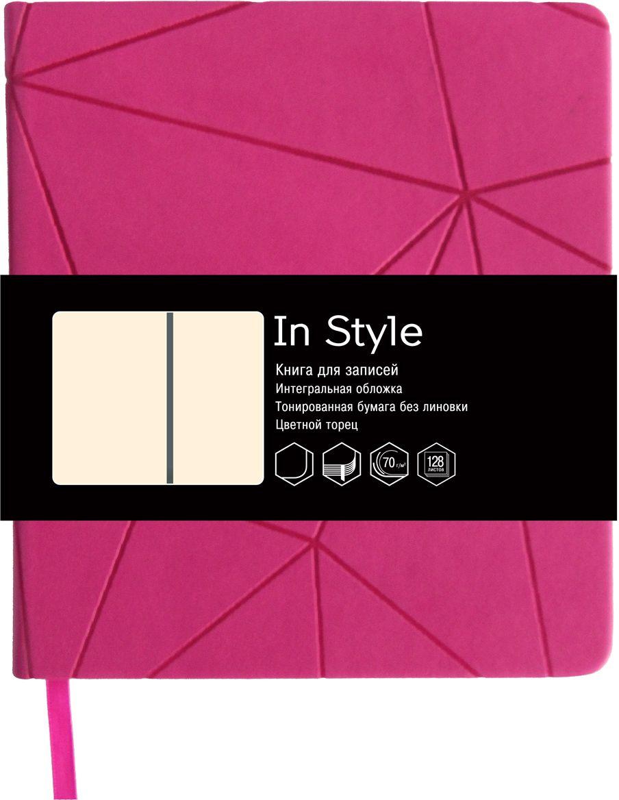 Канц-Эксмо Записная книжка In Style без разметки 128 листов цвет малиновыйКЗИС61282247Записная книжка Канц-Эксмо In Style карманного формата (150х165 мм) великолепно подойдет для заметок и зарисовок и позволит систематизировать поступающую информацию.Книжка имеет сшитый внутренний блок с цветным торцом из тонированной бумаги плотностью 70гр/м2 без разметки с закругленными углами. Интегральный переплет выполнен из высококачественной искусственной кожи с тиснением. Изделие дополнено ляссе.