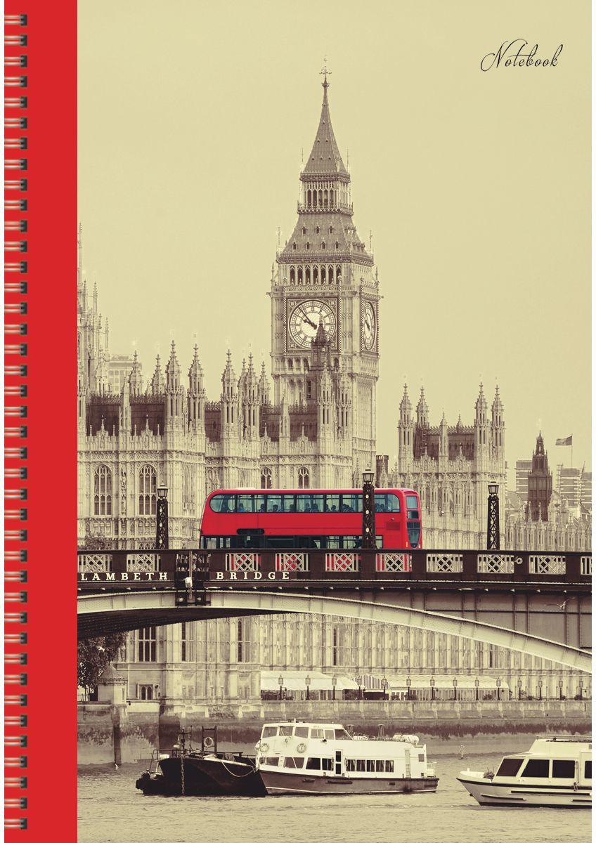 Канц-Эксмо Тетрадь Вокруг света Контрасты Лондона в клетку 96 листов формат А4ТС4964333Тетради для конспектов А4, 96л. Обложка мелованный картон. Евроспираль. Бумага–офсет 60г/м2, белая, клетка.