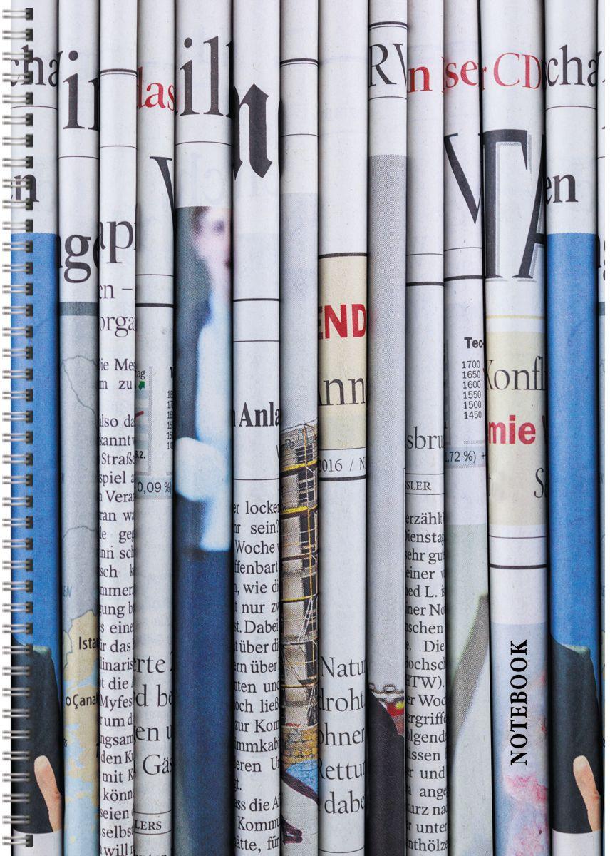 Канц-Эксмо Тетрадь Офисный стиль Газетные полосы в клетку 96 листов формат А4ТС4964335Тетради для конспектов А4, 96л. Обложка мелованный картон. Евроспираль. Бумага–офсет 60г/м2, белая, клетка.