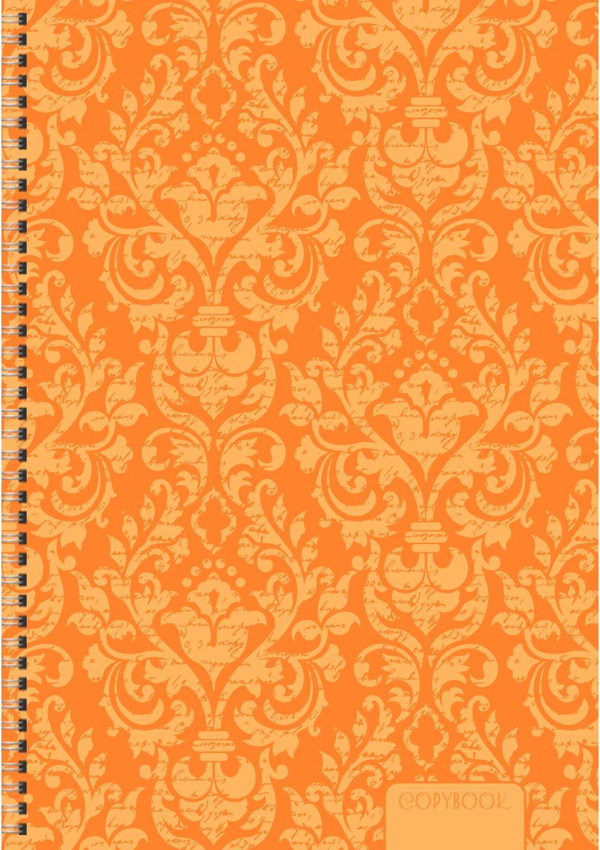 Канц-Эксмо Тетрадь Неоновые узоры в клетку 80 листов цвет оранжевый формат А4ТСЛ4804364Тетради для конспектов А4, 80л. Евроспираль, клетка.