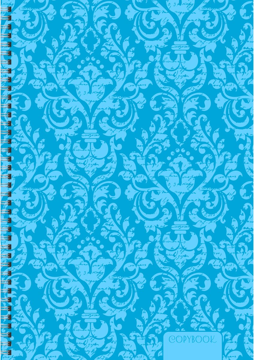 Канц-Эксмо Тетрадь Неоновые узоры в клетку 80 листов цвет голубой формат А4ТСЛ4804365Тетради для конспектов А4, 80л. Евроспираль, клетка.