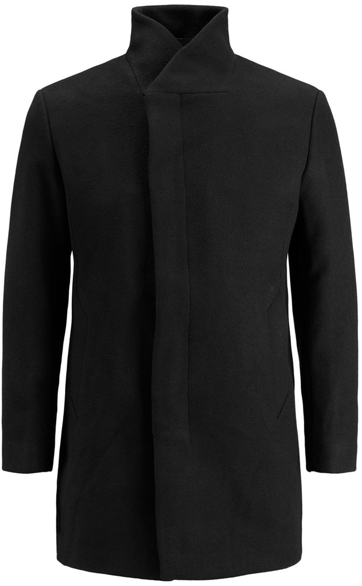 Пальто муж Jack & Jones, цвет: черный. 12127259_Black. Размер XL (52)12127259_Black