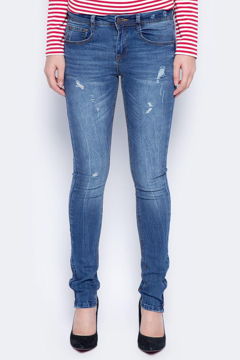 Фото Джинсы женские Sela, цвет: темно-синий джинс. PJ-135/629-7361. Размер 26-32 (42-32)