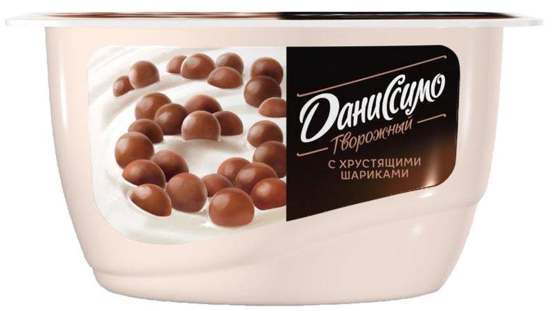 Даниссимо Продукт творожный Хрустящие шарики 7,2%, 130 г даниссимо продукт творожный браво шоколад 6 7
