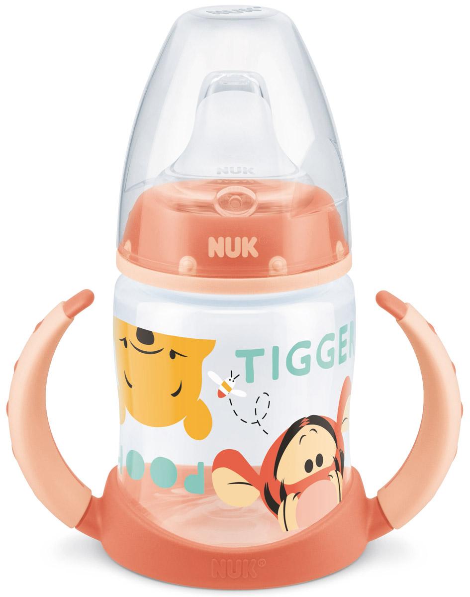 NUK Бутылочка-поильник Дисней First Choice с силиконовым носиком от 6 до 18 месяцев цвет персиковый 150 мл