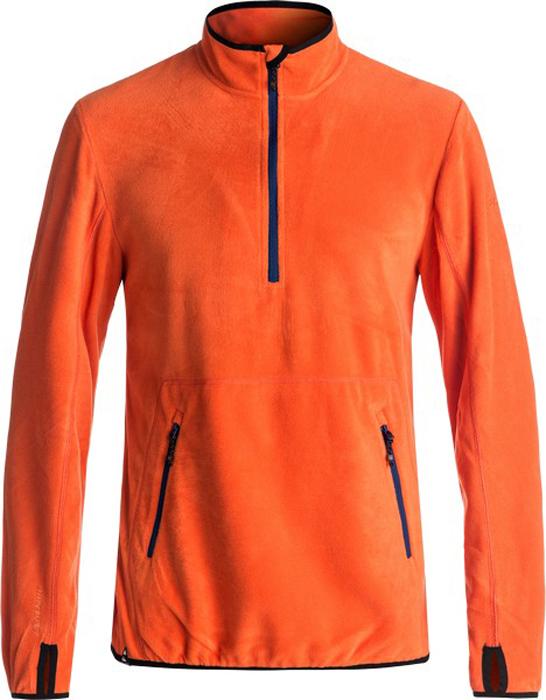 Джемпер мужской Quiksilver, цвет: оранжевый, рыжий. EQYFT03625-NMS0. Размер XL (52)EQYFT03625-NMS0