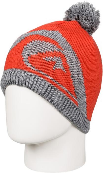 Шапка мужская Quiksilver, цвет: оранжевый. EQYHA03067-NMS0. Размер универсальныйEQYHA03067-NMS0Мужская шапка от Quiksilver выполнена из акриловой пряжи. Теплая и мягкая флисовая подкладка.