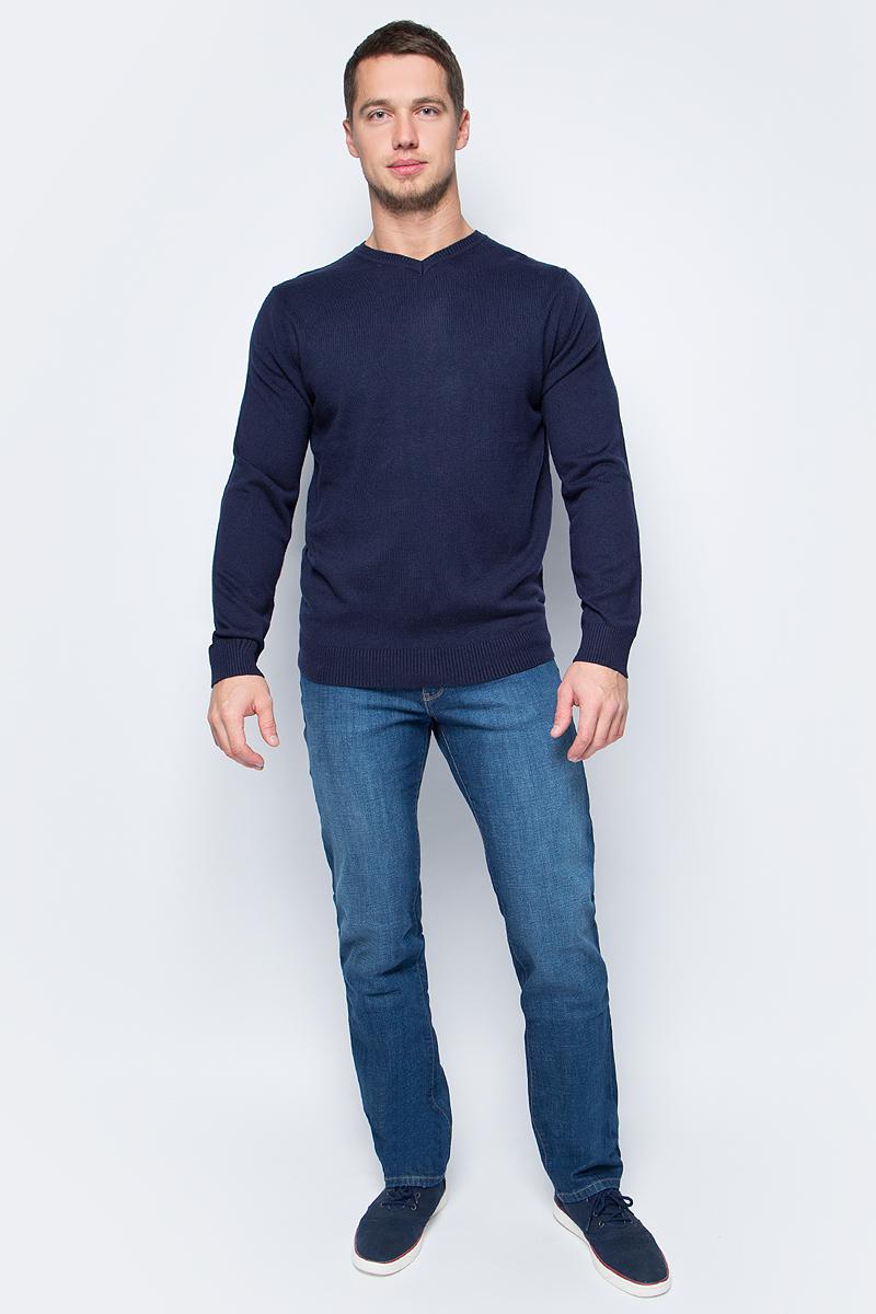 Джемпер мужской Sela, цвет: темно-синий. JR-214/277-7413. Размер XL (52) джемпер мужской sela цвет коричневый jr 214 845 6424 размер xxl 54
