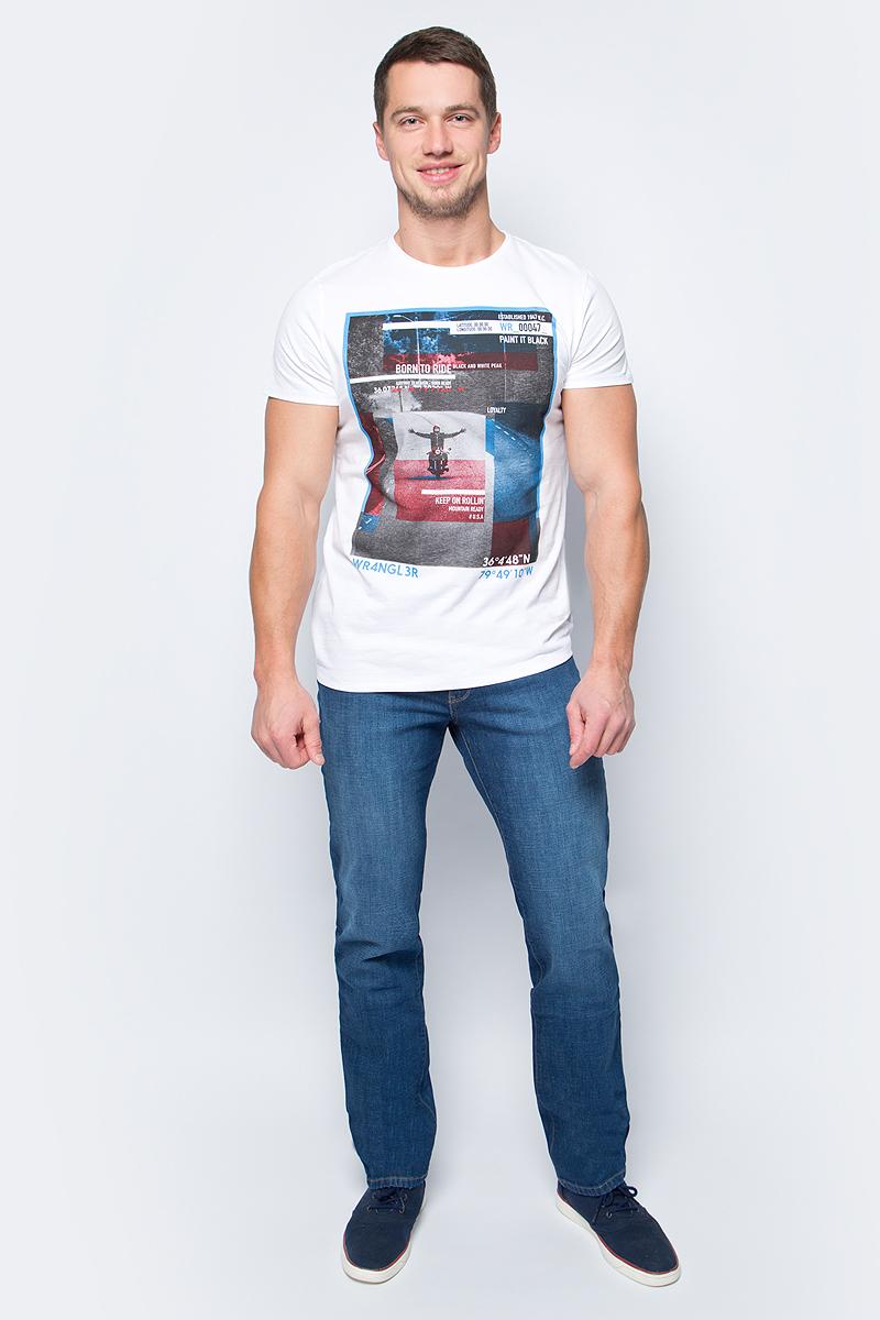 Футболка мужская Wrangler, цвет: белый. W7B08FG12. Размер S (46) ботинки wrangler wrangler wr224amlir98