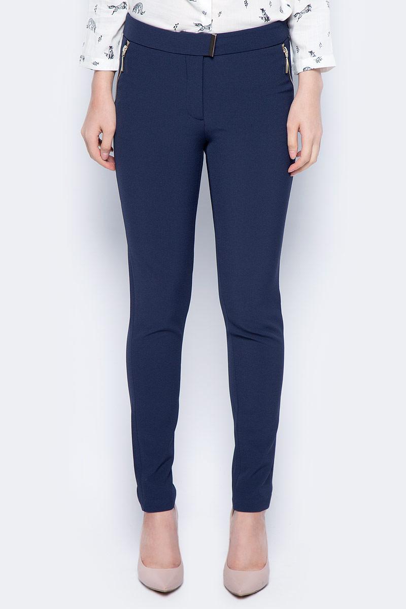Брюки женские Sela, цвет: темно-синий. P-115/849-7422. Размер 48 брюки женские sela цвет темно синий p 115 201 8122 размер 48