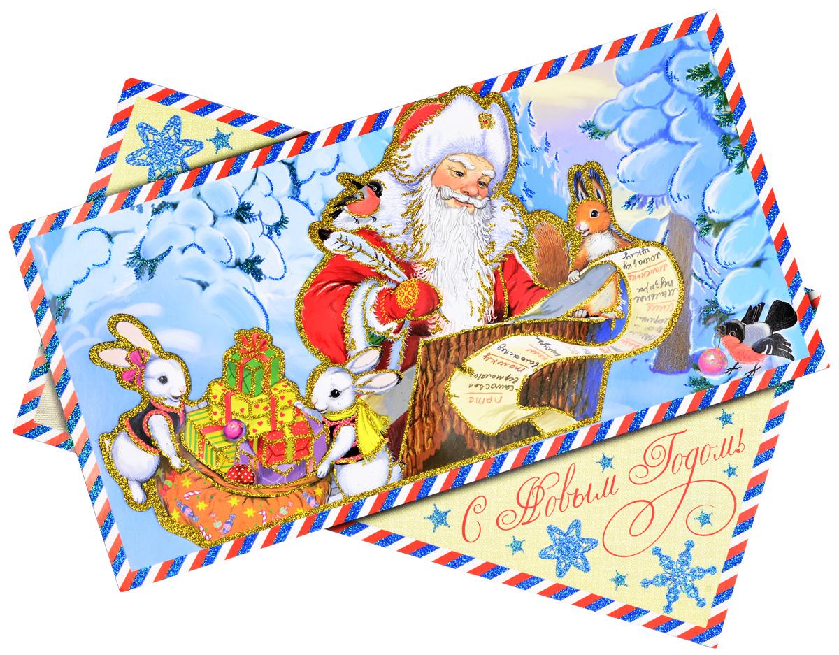 Украшение новогоднее оконное Magic Time Новогодняя почта, двустороннее, 45 х 35 см75166Двухстороннее новогоднее украшение Magic TimeНовогодняя почта, выполнено из картона в виде панно идекорировано блестками. Изделие предназначено дляпраздничного оформления стен, окон и дверей. С помощьютакого украшения можно составлять на мебели целые зимниесюжеты, которые будут радовать глаз и поднимать настроение впраздничные дни! Также вы можете преподнести этот сувенирв качестве мини-презента коллегам, близким и друзьям спожеланиями счастливого Нового Года! В комплект входят клеевые подушечки. Плотность картона: 300 г/м2.
