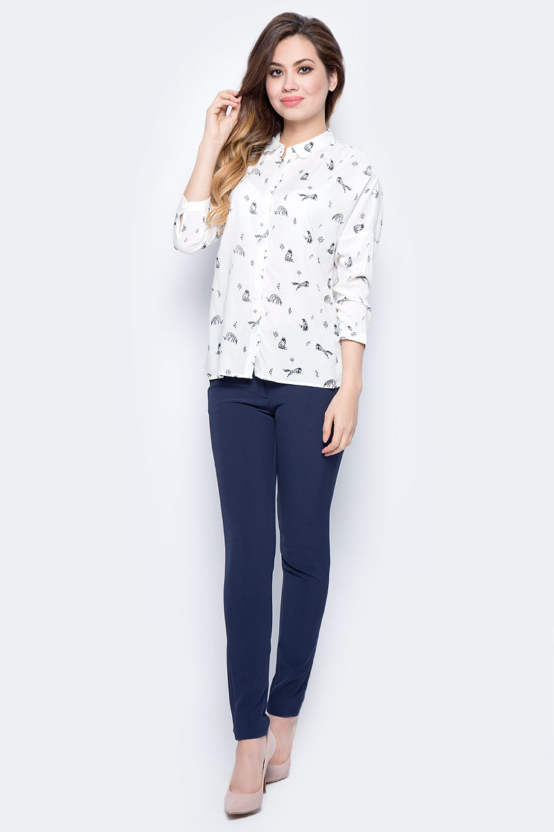 Блузка женская Sela, цвет: молочный. B-112/1315-7432. Размер 48 sela se001ewopz57 sela