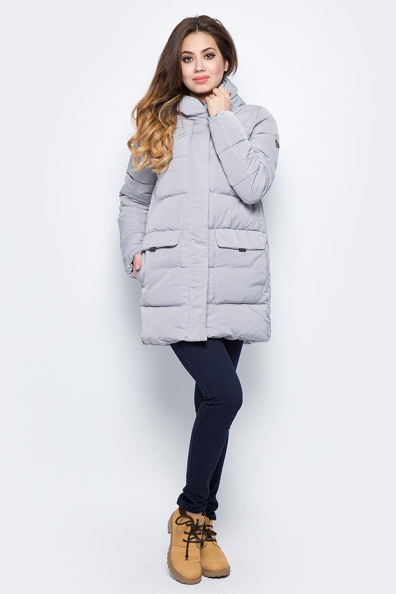 Куртка женская Grishko, цвет: серый. AL - 3294. Размер 44AL - 3294Практичная и модная теплая куртка прямого силуэта изготовлена из водооталкивающей ткани. Молния и глубокий капюшон, с регулируемыми отворотами, дополнительно защищающими от непогоды, закрыты планкой. Большие накладные карманы с боковым и верхним входом под клапанами. Незаменимая модель в холодную зимнюю погоду. Микрофайбер - это утеплитель нового поколения, который отличается повышенной теплоизоляцией, антибактериальными свойствами, долговечностью в использовании, необычайно легок в носке и уходе. Изделие легко стирается в машинке, не теряя первоначального внешнего вида. Комфортная температура носки до минус 20 градусов.
