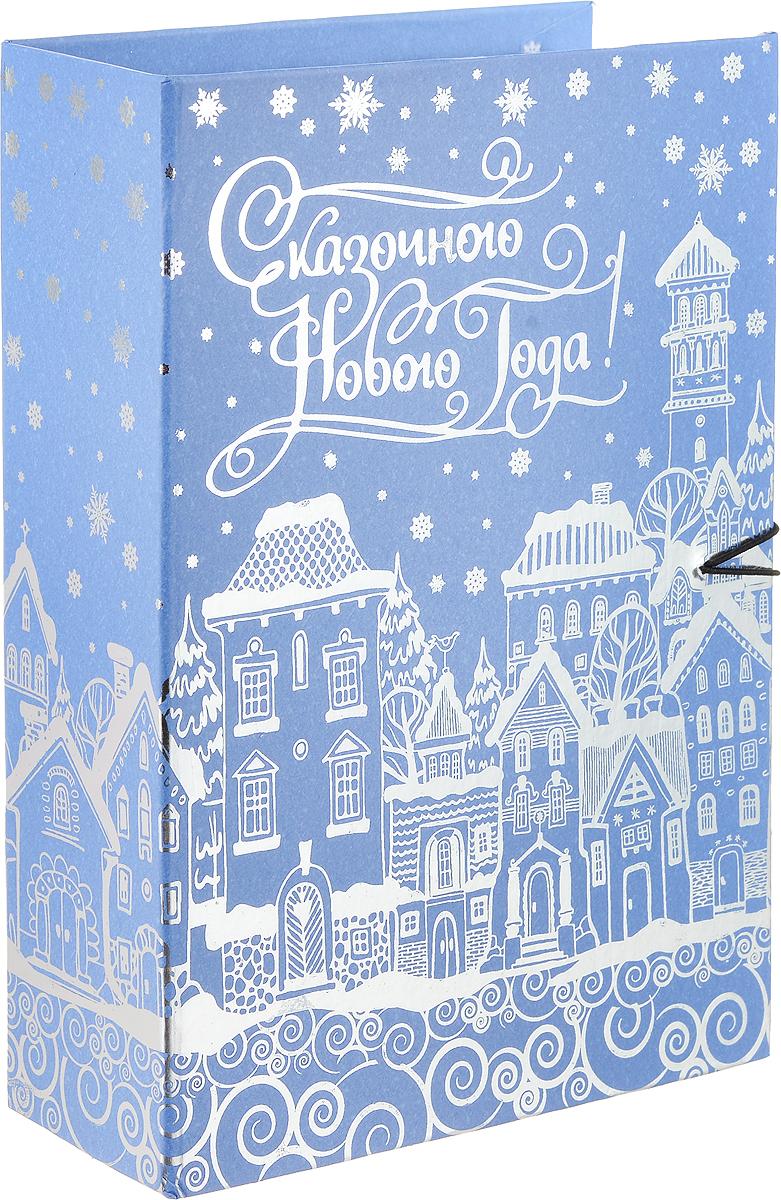 Коробка подарочная Magic Time Заснеженный город, 18 х 12 х 5 см75028Подарочная коробка Magic Time Заснеженный город выполнена из мелованного, ламинированного картона. Коробка закрывается на деревянную пуговицу. Изделие полностью оформлено оригинальными рисунками в зимней тематике.Подарочная коробка - это наилучшее решение, если вы хотите порадовать ваших близких и создать праздничное настроение, ведь подарок, преподнесенный в оригинальной упаковке, всегда будет самым эффектным и запоминающимся. Окружите близких людей вниманием и заботой, вручив презент в нарядном, праздничном оформлении. Плотность картона: 1100 г/м2.
