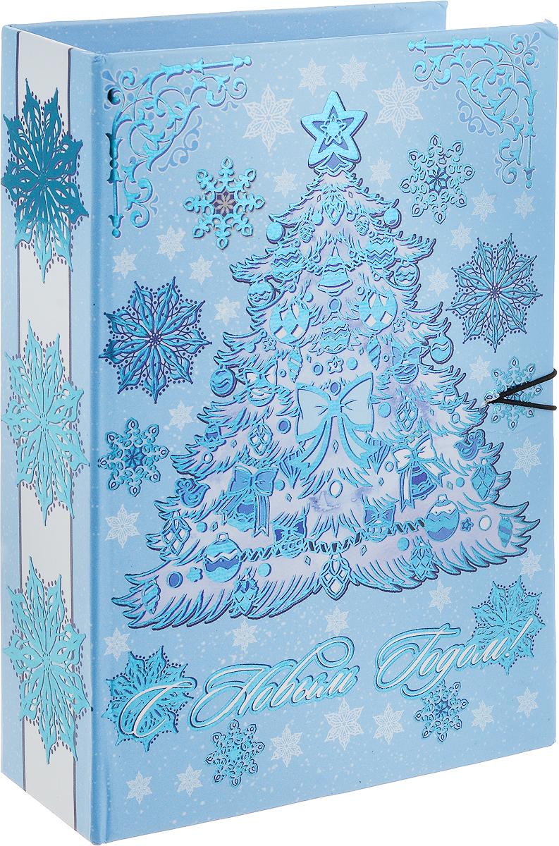 Коробка подарочная Magic Time Елочка в голубом, размер S. 7502075020Подарочная коробка Елочка в голубом-S из мелованного, ламинированного, негофрированного картона плотностью 1100 г, м2, с полноцветным декоративным рисунком на внутренней и наружной части, 18x12x5, артикул 75020