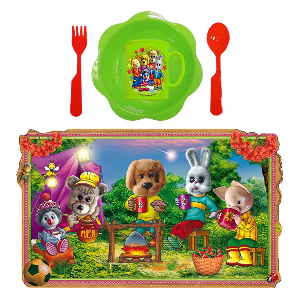 Набор детской посуды Спокойной ночи малыши 5 предметов Н5СП
