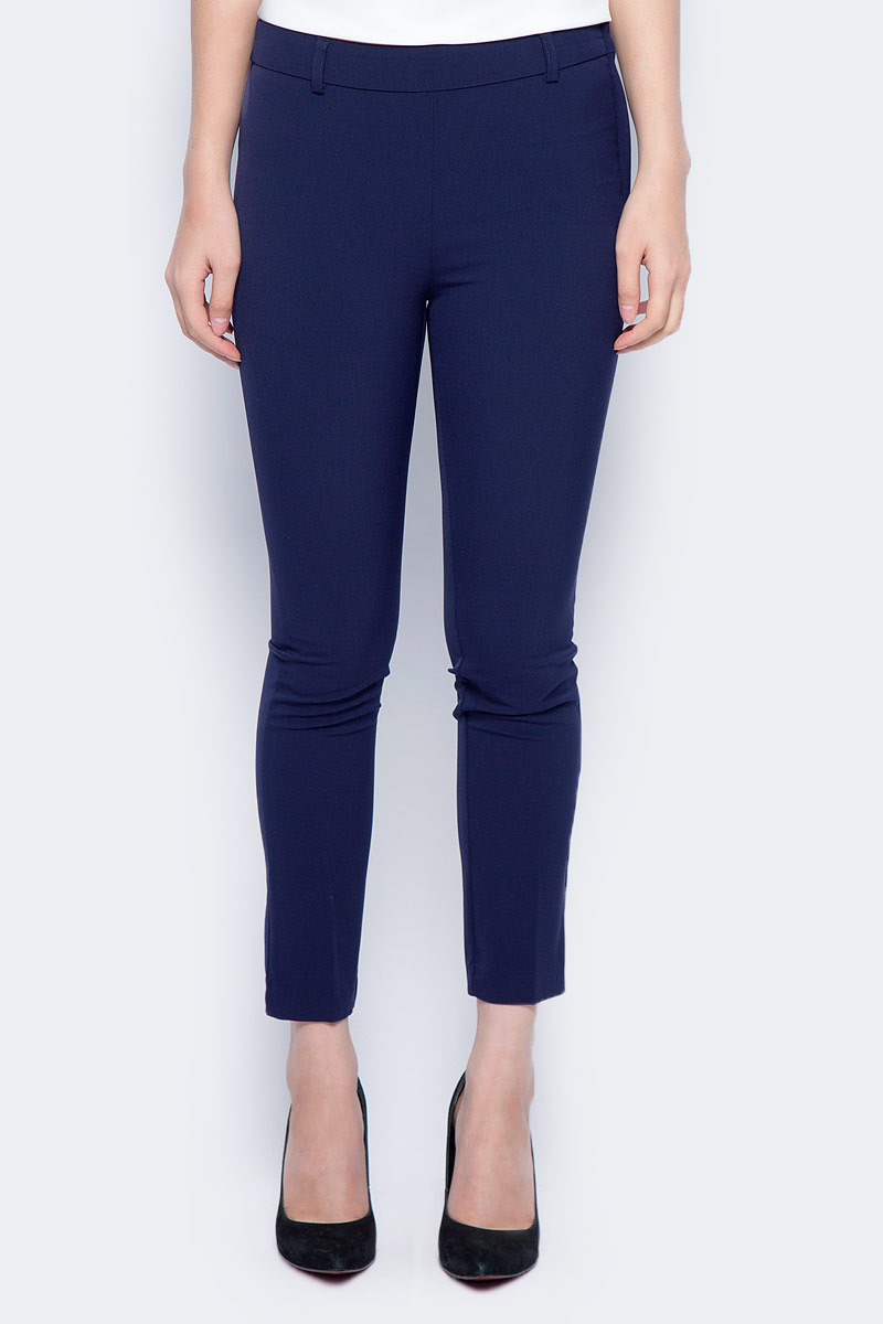 Брюки женские Sela, цвет: синяя впадина. P-115/857-7321. Размер 46 брюки sela sela se001emzom27