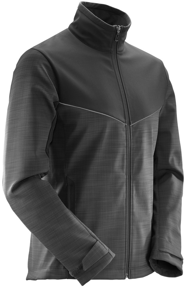 Куртка мужская Salomon Pulse Softshell Jkt M, цвет: черный. L39718600. Размер XXL (60)  цена и фото