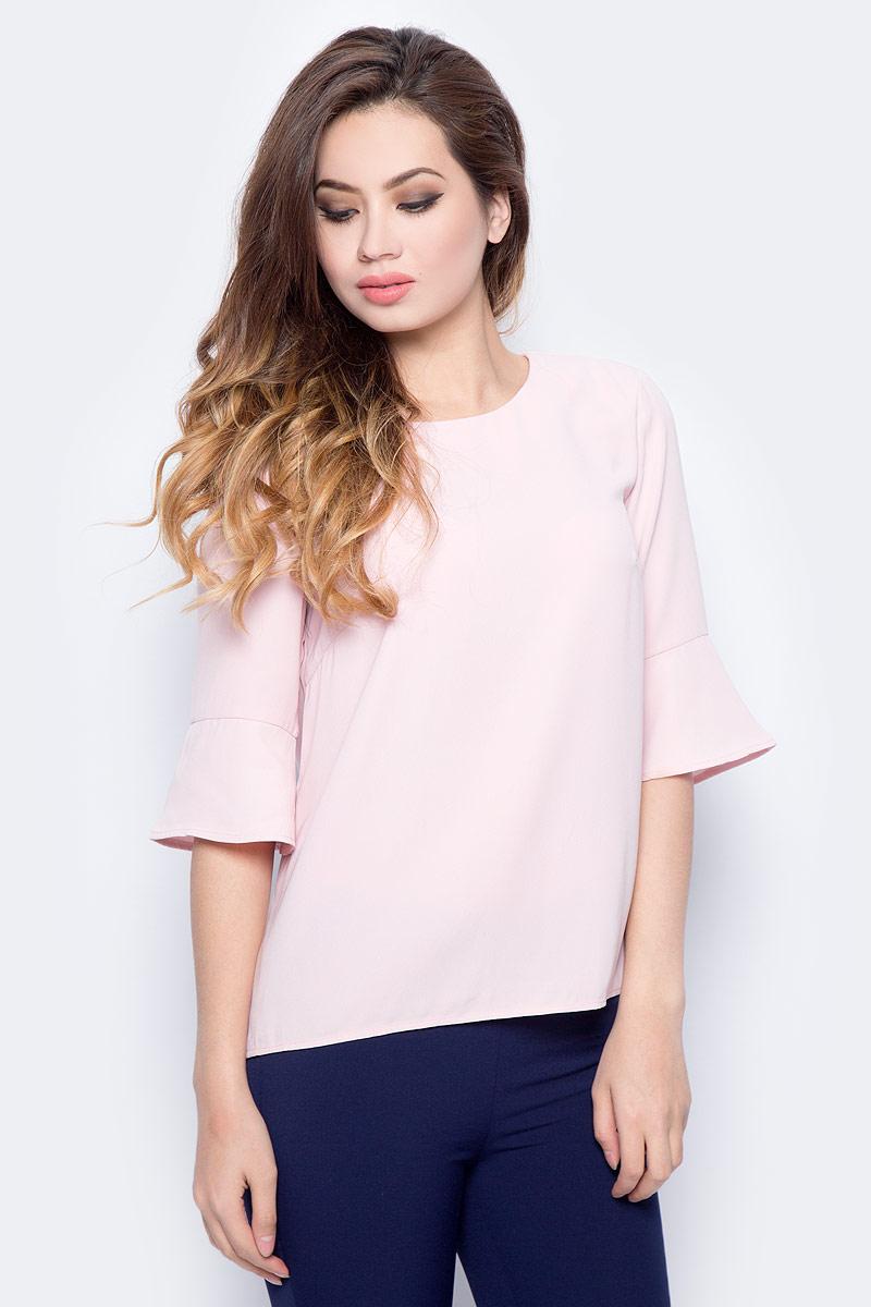 Блузка женская Sela, цвет: пыльно-розовый. Tw-112/1319-7321. Размер 48 платье женское sela цвет черный tkw 112 1323 7321 размер 50
