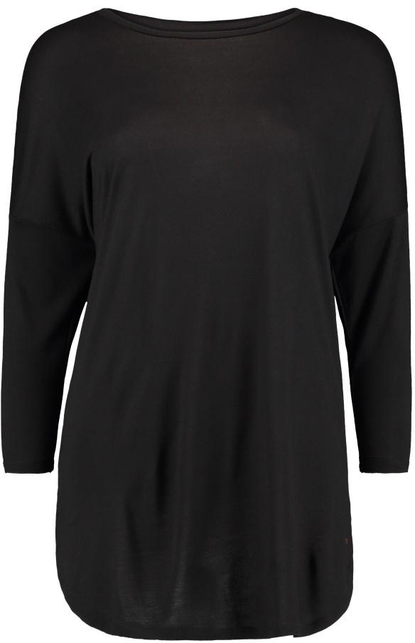 Лонгслив женский ONeill Lw Essentials T-Shirt, цвет: черный. 7P7369-9010. Размер L (48/50)7P7369-9010Лонгслив женский ONeill Lw Essentials T-Shirt выполнен из высококачественного материала. Удлиненная модель с круглым вырезом горловины и длинными рукавами.