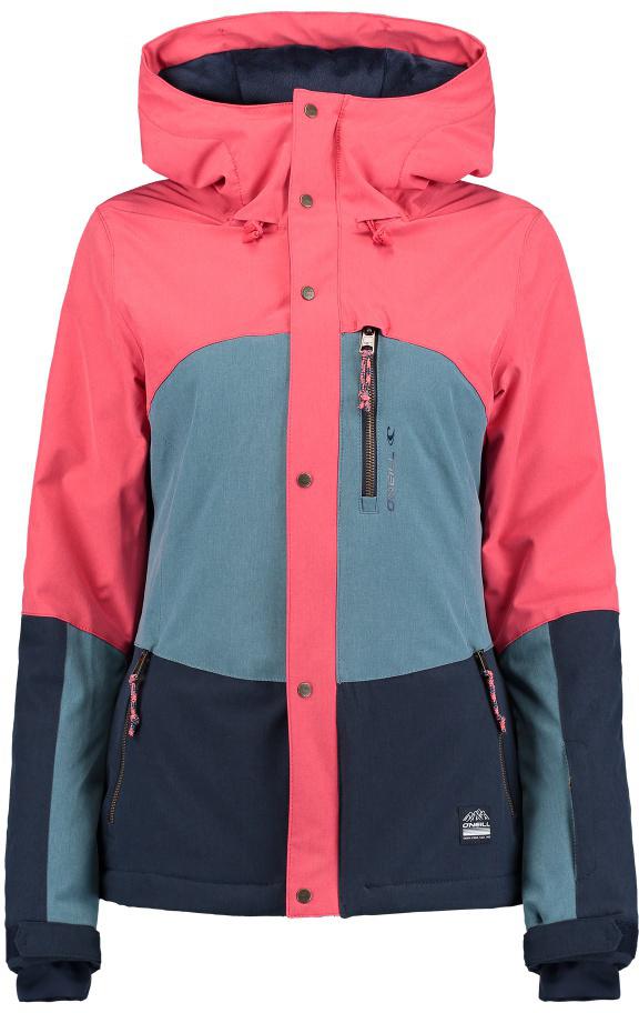 Куртка женская ONeill Pw Coral Jacket, цвет: красный, синий. 7P5016-3111. Размер XS (42/44)7P5016-3111Женская куртка ONeill Pw Coral Jacket выполнена из полиэстера с подкладкой из синтепона. Модель с длинными рукавами и капюшоном застегивается на застежку-молнию спереди и имеет ветрозащитный клапан на кнопках. Изделие дополнено тремя втачными карманами на застежках-молниях. Рукава дополнены эластичными резинками на манжетах, а также дополнены липучками, которые позволяют регулировать обхват манжет. Объем капюшона регулируется при помощи шнурка-кулиски.