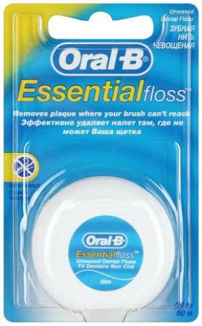 Oral-BЗубная нить Essential floss невощеная 50 м Oral-B