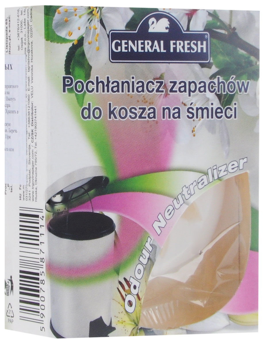 Нейтрализатор запахов General Fresh, для мусорного ведера, цвет: перламутровый587111_перламутровыйНейтрализатор General Fresh, выполненный из пластика, поможет эффективно побороть неприятные запахи из мусорного ведра. Поглотитель запахов для мусорных ведер, в отличие от обычных освежителей, не только маскирует тяжелый запах, но и устраняет его у самого источника, блокируя распространение по другим помещениям в доме.