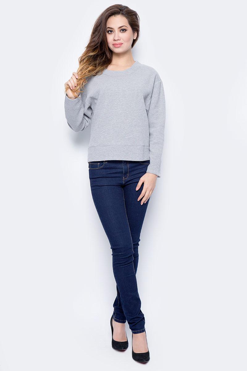 Джемпер женский Sela, цвет: серый меланж. St-113/1213-7413. Размер XL (50)St-113/1213-7413Модный женский джемпер Sela, изготовленный из высококачественного материала, мягкий и приятный на ощупь, не сковывает движений и обеспечивает наибольший комфорт. Модель с круглым вырезом горловины и длинными рукавами великолепно подойдет для создания современного образа в стиле Casual. Этот джемпер послужит отличным дополнением к вашему гардеробу.