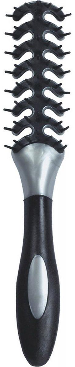 Dewal Расческа для укладки Рыбья кость, цвет: серый, черный. BR69403 адресник v i pet рыбья кость круглый средний 20 мм гравировка