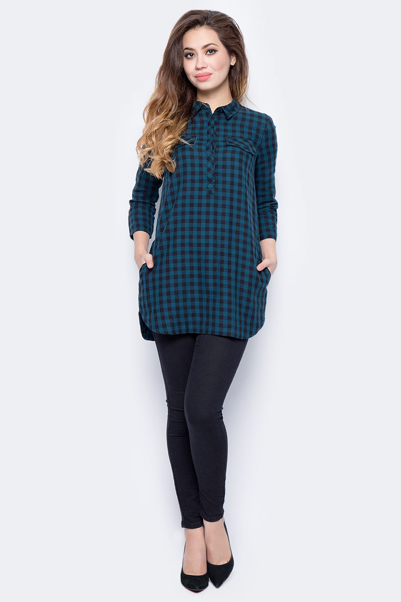 Платье женское Sela, цвет: черный. TKw-112/1323-7321. Размер 44TKw-112/1323-7321