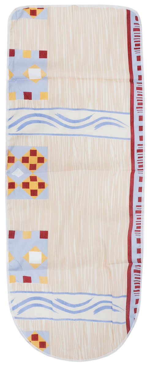 Чехол для гладильной доски Detalle, универсальный, цвет: бежевый, серый, 125 х 47 см