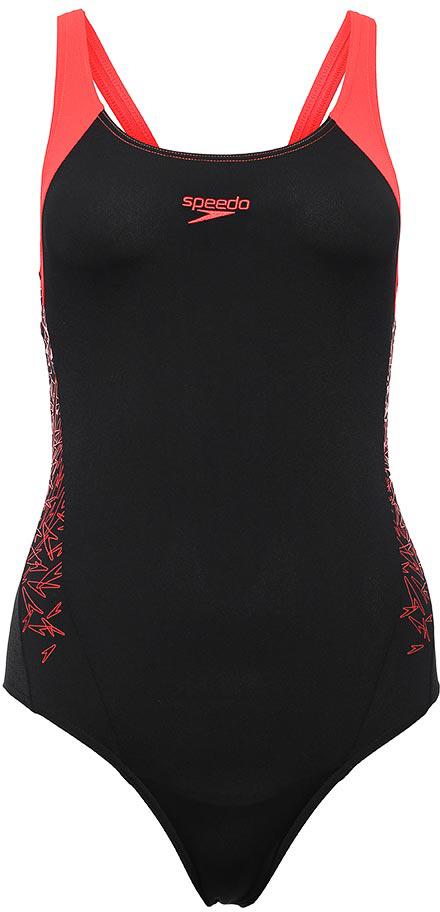 Купальник слитный Speedo Boom Splice Muscleback, цвет: черный, красный. 8-10821B346-B346. Размер 32 (42/44) - Плавание